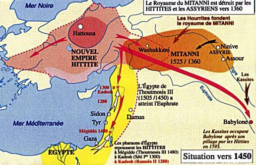 Hittites and mitani in anatolia europe in the world since 1500