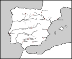 Spain Rivers Cities